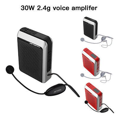 2.4G Wireless Bluetooth Megaphone Voice Amplifier Headset FM Radio Loudspeaker