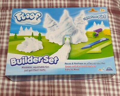 Floof Kids Starter Set Fluffy Snow Modelling Clay With Scraper Childs Toy 120g