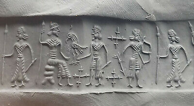 Rare Marvales Old Bead Roman Complte King Family Intaglio Cylinder Seal