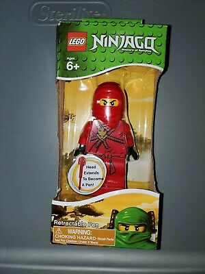 "One Of 4 Random Colored Ninja Pens 4/"" Lego Ninjago Retractable Pen Figurine"