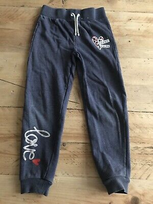 George Girls Blue Jogging Bottoms Joggers Age 6-7 Years