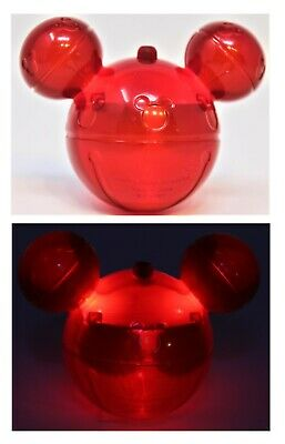 Disneyland Disney Parks 2019 Mickey Mouse Ears Red Glow Cube Christmas Light Up
