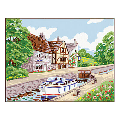 ANCHOR | Tapestry Kit: Country Canal Barge Lock | KT102K