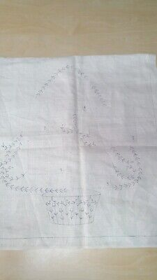 Unworked Pocket Pillow To Sew printed pattern on Linen Embroidery xmas