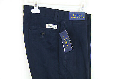 Polo Ralph Lauren Navy Clasic Fit Men Chino Trousers Size W31 L32, Rrp £119