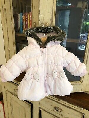 Designer Super Cute And Warm Baby Girl Pale Pink Winter Puffer Jacket Sz 000