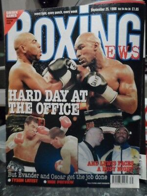 BOXING NEWS 'HOLYFIELD' AND 'LEWIS'  In great condition, L@@K! bargain price!