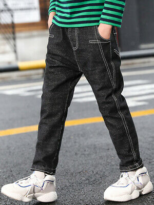 IENENS Boys Straight Denim Black Jeans Kids Youth Boy Long Trousers Fit5-13Years