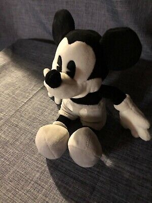"""DISNEY PARKS exclusive black white and gray Mickey Mouse plush stuffed toy 10"""""""