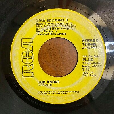 Northern Soul 45 Mike McDonald - God Knows HEAR! RCA