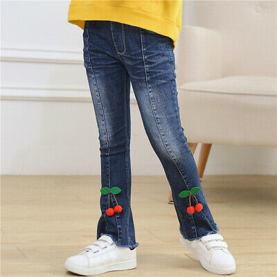 IENENS Kids Girls Jeans Denim Long Trousers Youngh Girls Stylish Casual Pants