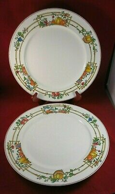 TWO (2!) Villeroy & and Boch Porcelain MON JARDIN Dinner Plates Luxembourg