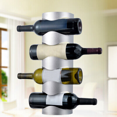 AU Wall Mounted Wine Bottle Rack Home Kitchen Stainless Steel Holder Display