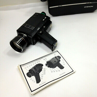 Vintage CHINON 672 Power Zoom Synchro Sound Super 8 Movie CAMERA