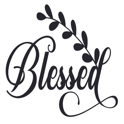 Decal Only For Blessed Sideways Cross Blessed Vinyl Decal Etsy