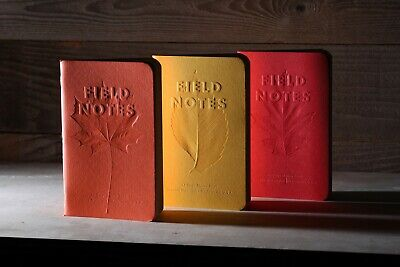 Field Notes 2019 Quarterly Edition: Autumn Trilogy Memo Books 3Pack