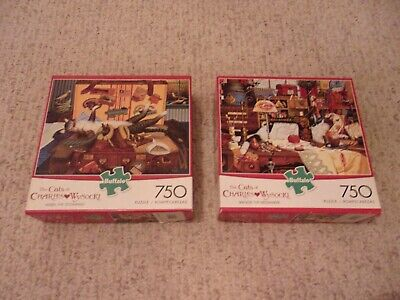 2 Charles Wysocki Americana Puzzles 750 Pieces Assorted Complete