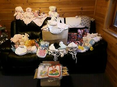 Wholesale joblot baby items for nappy cakes resale teddy hats all brand new