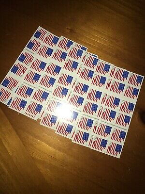 Usps Forever Stamps Us Flag 7 Books Of Stamps! Cheap Postage!!