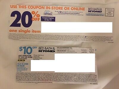 18 Lot Bed Bath and Beyond Coupons: 17x 20% off Single Item & 1x $10 off $30