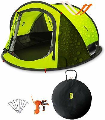 Pop Up Tent, Zenph Automatic 2-3 Persons Family Camping Tent, 3 Seconds Automati