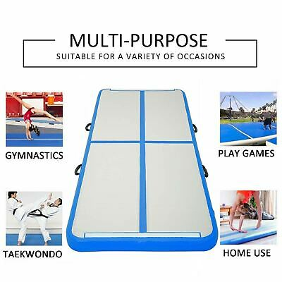 10 FT Air Track Gymnastics Mat Tumbling GYM Equipment Airtrack Inflatable Pad
