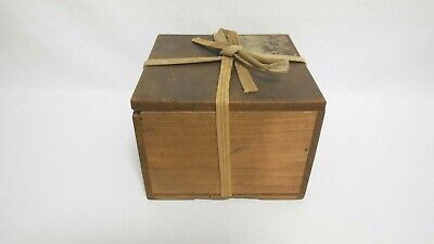 Japanese Wooden Storage Box Paulownia Old Box container for Tea bowl From Japan