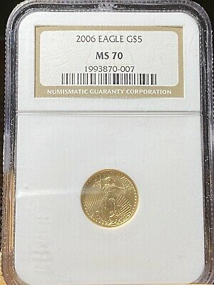 2006 P Ngc Ms70 $5 American Gold Eagle!