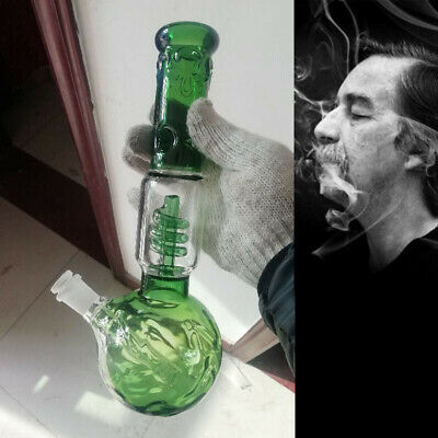 38cm Green Glass Bong Lampcomb Smoking Pipe Water Hookah Unique Spherical Base