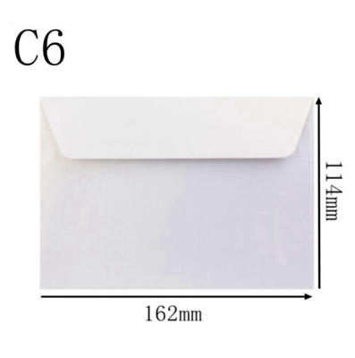 400PK White DIY Cards & Envelopes C6 Size Craft Wedding Party Sending Letter