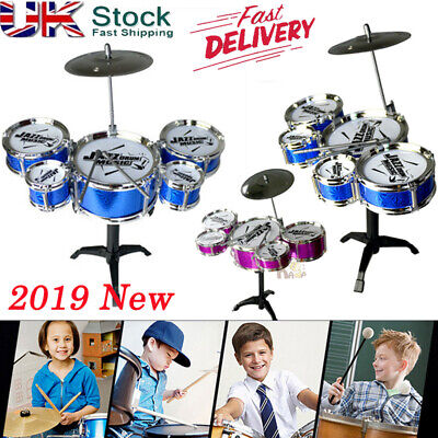 Children Kids Drum Set Kit Playing Drums Musical instrument Toy Gift Playset UK