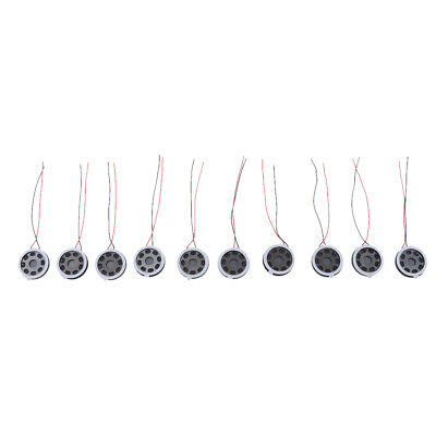 Lovoski 10pcs 8ohm 1W Full Range Audio Round Speaker 20x20mm Replacement