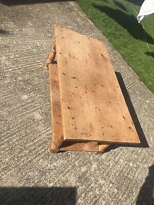 Antique Victorian English Pitched Pine Wood, Coffee Table