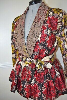 Ladies African tops/Custom Made African Wax Print to fit UK Size 14.