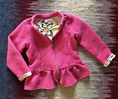 Ted Baker Girls Age 5-6 Years Pink Jacket Blazer Acceptable Condition