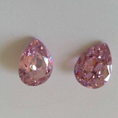 Pear Pink Cubic Zirconia Loose Stones IF CZ For Jewellery rings
