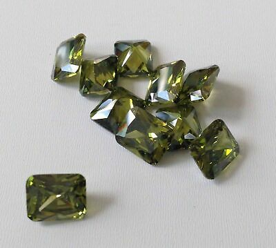 Olive-Octagon Cubic Zirconia Loose Stones CZ For Jewellery rings