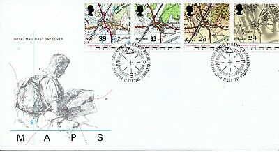 GB - FIRST DAY COVER - FDC - Commems -1991 - Ordnance Survey - U/A pmk PB
