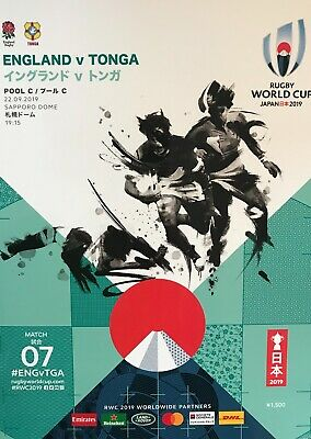 Rugby World Cup 2019 Programme England v Tonga