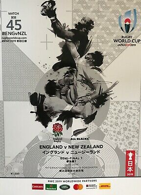 Rugby World Cup 2019 Semi Final Programme England v New Zealand