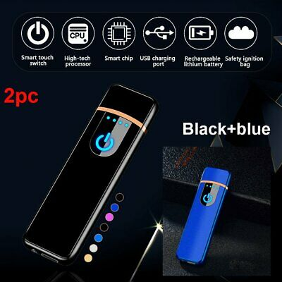 Windproof Touch Sensitive USB Rechargeable Flameless Electric Cigarette Lighter