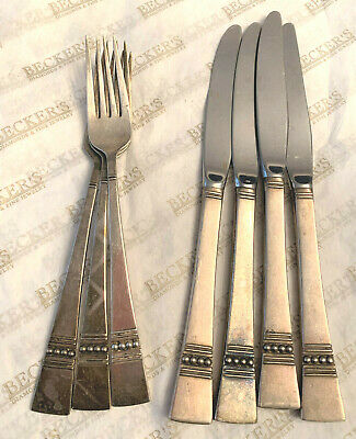 Sterling silver Reed & Barton Diadem Flatware Some for Cartier 3 Forks 4 Knives
