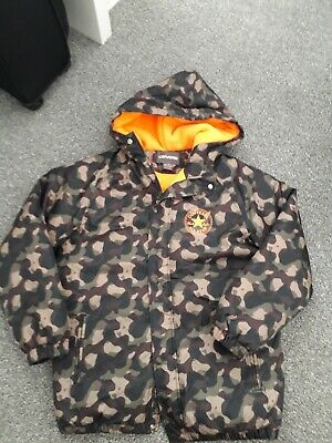 Age 12 To 13 Converse Camouflage Coat New Never Worn