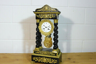 Antique French Empire Mantel Clock Table Clock Rare