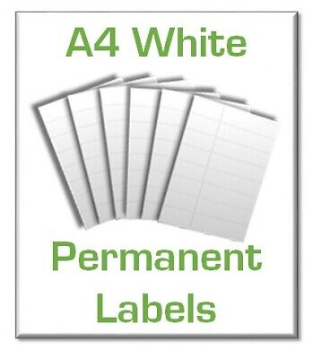 White Paper A4 Sticky Sheets | Inkjet & Laser printable Self adhesive labels