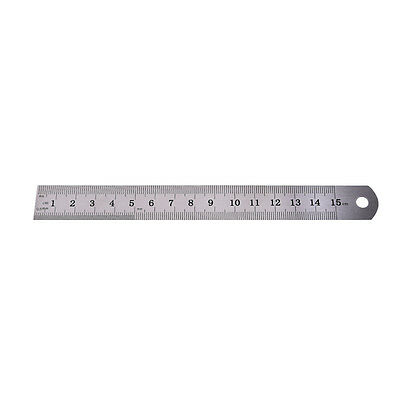 1x Metric Rule Precision Double Sided Measuring Tool  15cm Metal Ruler BH