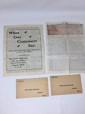 Victorian Quack Medicine The Giant Oxie Co. Advertising Letter Envelopes Oxien
