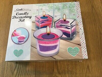 Craftdeco candle decorating kit make your own personal designs new & sealed