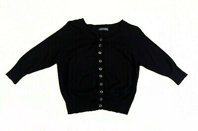 Suzy Shier Womens Cropped Cardigan Button Up Black Size M UK 12 38 Viscose Blend