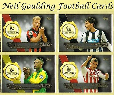 Topps PREMIER GOLD 2015 ☆ BEST OF BARCLAYS ☆ Football Cards #BB1 to #BB20